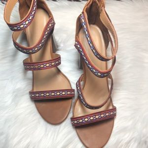 Bamboo heels, size 8